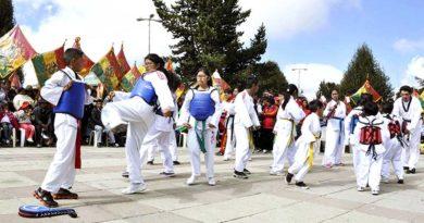 Torneo de Karate en El Alto, el 25 de noviembre