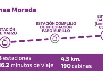 Mi Teleférico inicia el tendido de cable guía de la Línea Morada que une La Paz y El Alto